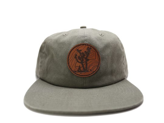 The Joshua Tree Olive 6 Panel Cap is made of washed cotton twill and perfect for shading your face from the sun, $30, at parkspreserve.com.