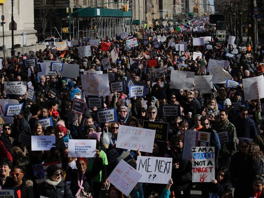 Participants take part in the March for Our Lives Rally
