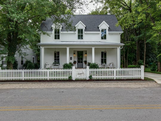 Living in downtown Franklin, Matt and Kara  Christensen, owners of Garden Gate Homes, are committed to maintaining the charm and character of neighboring historic homes. This home is located on Jennings Street.
