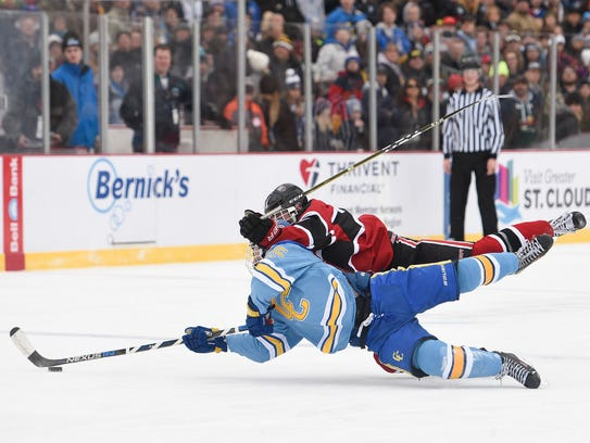 St. Cloud Cathedral's CJ Zins crashes with St. Cloud's