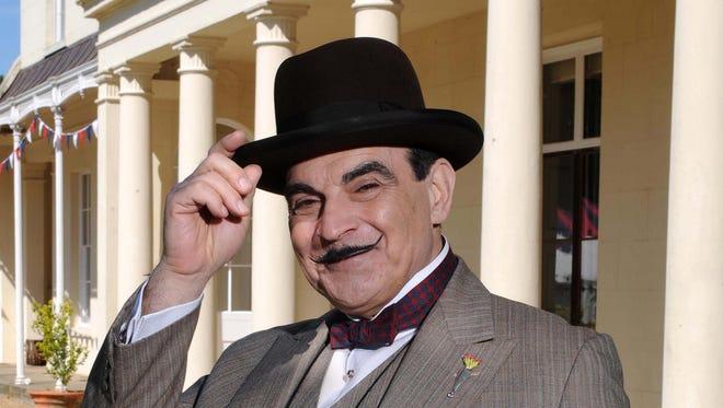 "David Suchet as Hercule Poirot in ""Agatha Christie's Poirot."""