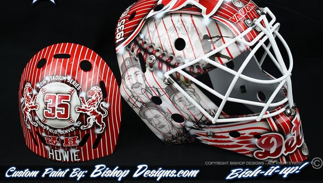 This is the mask Jimmy Howard will wear for the game against the Avalanche on Feb. 27.