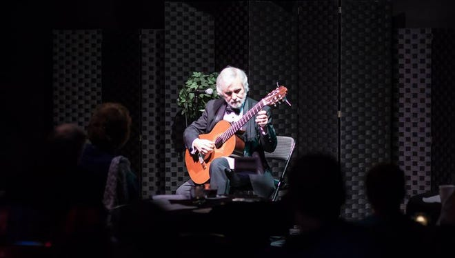Classical guitarist John De Chiaro performs at a past Abendmusik Alexandria series concert. On Feb. 21, he will perform a free concert to raise donations for Lily of the Valley Ministries in Alexandria.