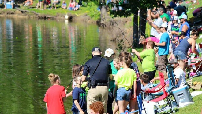 Hundreds of kids took part in the Cops and Bobbers fishing rodeo hosted by local law enforcement.