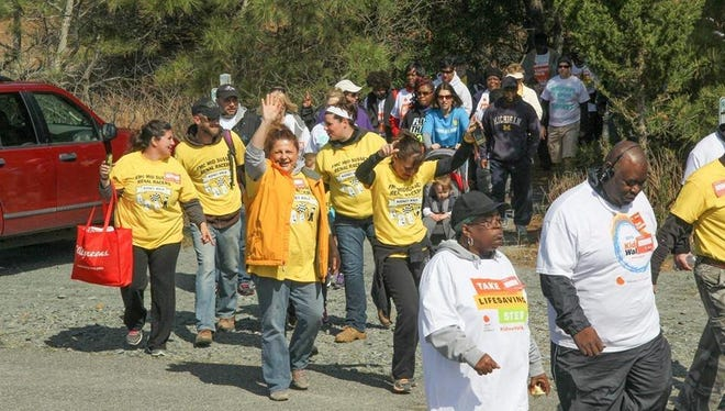The annual Kidney Walk will be held April 30 at Cape Henlopen State Park.