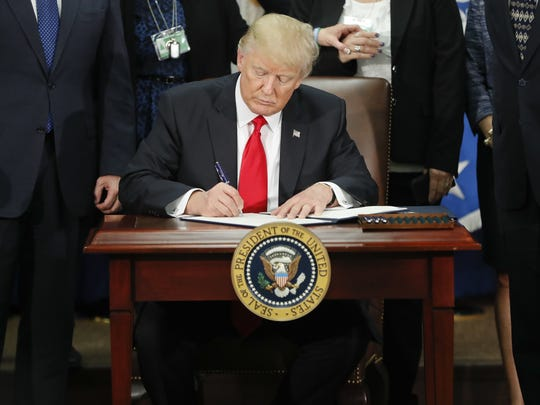 "In September, the president signed an executive order requiring state governments and localities to ""both consent, in writing, to the resettlement of refugees within the state and locality, before refugees are resettled within that state and locality under the program."""