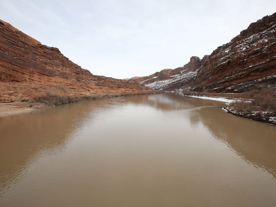 The Colorado River near Moab, Utah.