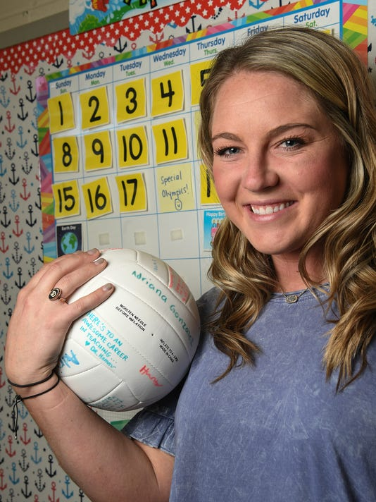 Hayley Hoover D.W. Daniel volleyball