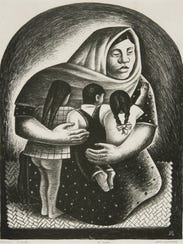 """""""Mexican Mother"""" by Jerry Bywaters, 1936."""