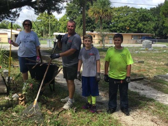 Titusville residents showed up in force to clean up the LaGrance Cemetery in North Brevard on Labor Day.