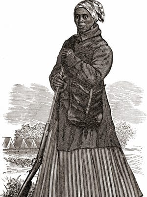Woodcut of Harriet Tubman during the Civil War
