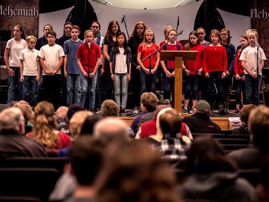 The Granville Christian Academy's  middle school choir