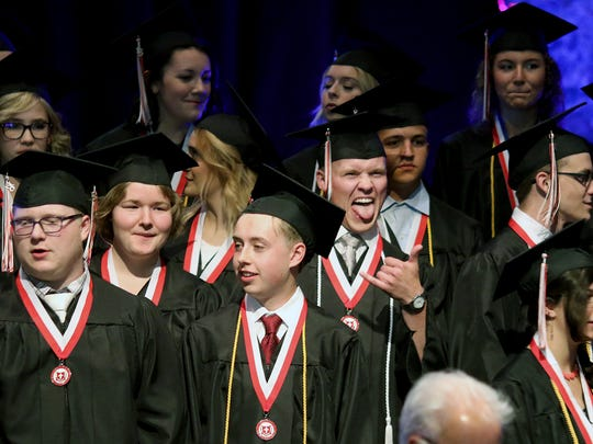 The 2018 graduating class at Crosspoint Academy in