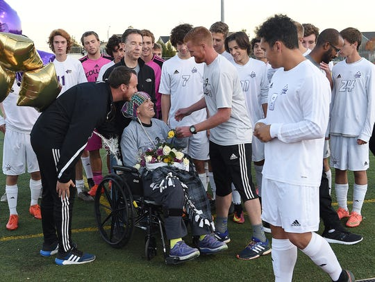 The Fort Collins boys soccer team held a fundraiser for Heather Keaten, the mother of now-senior forward Matthew Keaten, last season before her death from cancer in December.