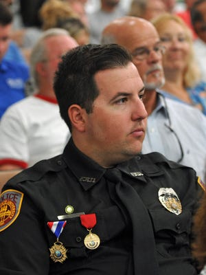 """Oma """"Zack"""" Nations III, who was raised in Brevard, and is a Florida State University patrol officer, was honored for his courage in stopping the gunman during a November 20 shooting spree at the Tallahassee college campus library. The resolution was read at the July 7 Brevard County Board of County Commissioners meeting in Viera."""
