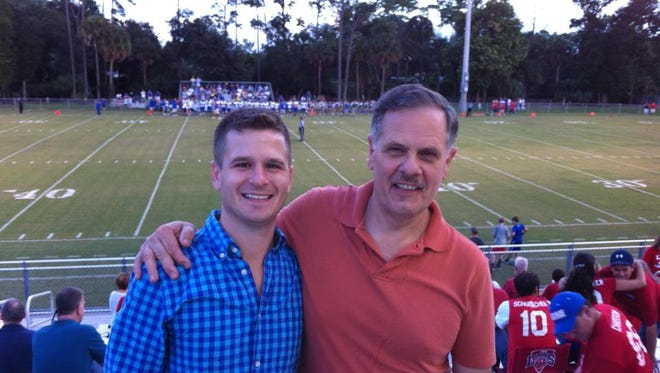 Jeff Greer (left) with his father, Bruce Greer.