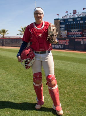 In just her first year, freshman sensation Jessica Gonzalez has become the new home run queen for the Dixie State softball team. So far this season, Gonzalez has already hit two grand slams and a number of game-winning hits.
