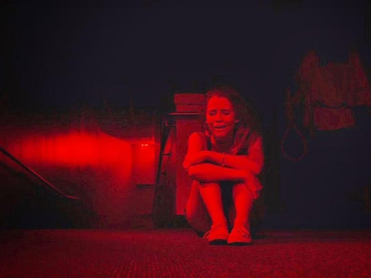 """Cassidy Gifford finds herself in a frightening situation in """"The Gallows."""""""