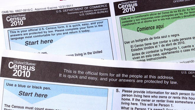 Census 2010 forms.