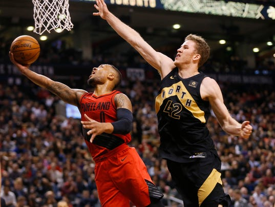 NBA: Portland Trail Blazers at Toronto Raptors