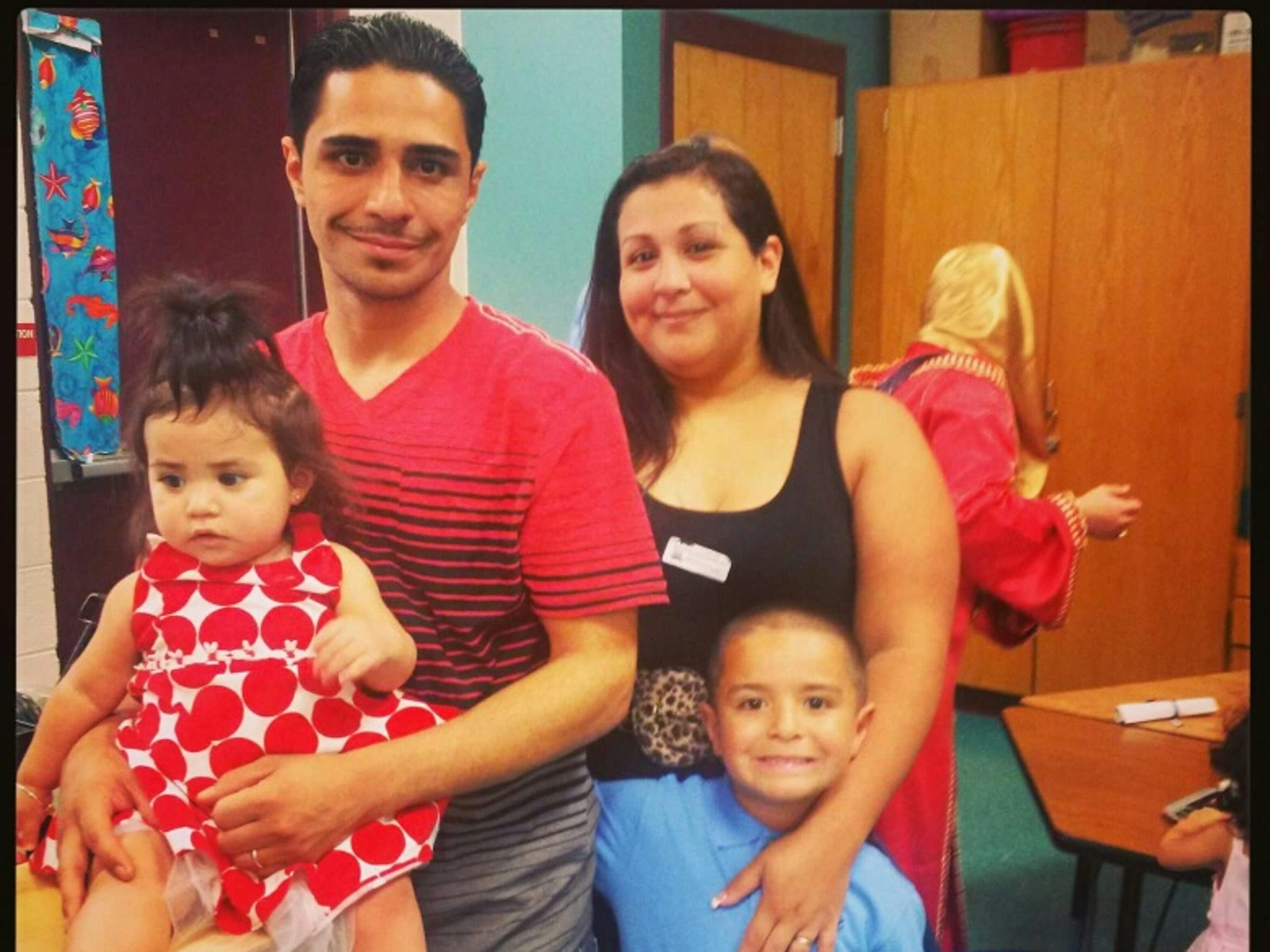 Norman Velez with wife Ingrid, daughter Skylar and