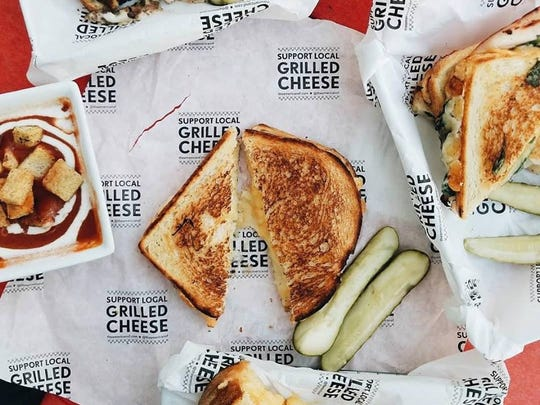 The American Grilled Cheese Kitchen offers catering.