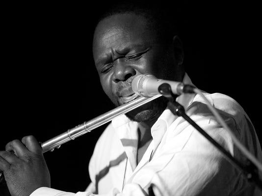 Samite on Silver flute (2) B&W.jpg