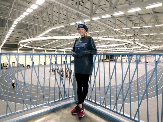 Taryn Cordani of Ithaca College, 2018 Van Sickle Athlete of The Year, at the Athletics and Events Center on campus.