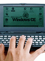 THROWBACK THURSDAY: This Hitachi handheld computer was announced in 1996 at COMDEX, which was the name of a computer exposition for dealers, according to PC. In its heyday, COMDEX would attract more than 200,000 attendees at its Las Vegas conventions.