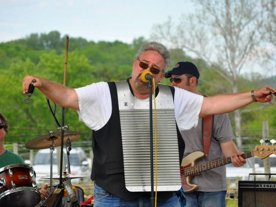 VooDUDES frontman Andy Bernstein, front, once again will return with his band to the annual Mother's Day Festival at Alba Vineyard.