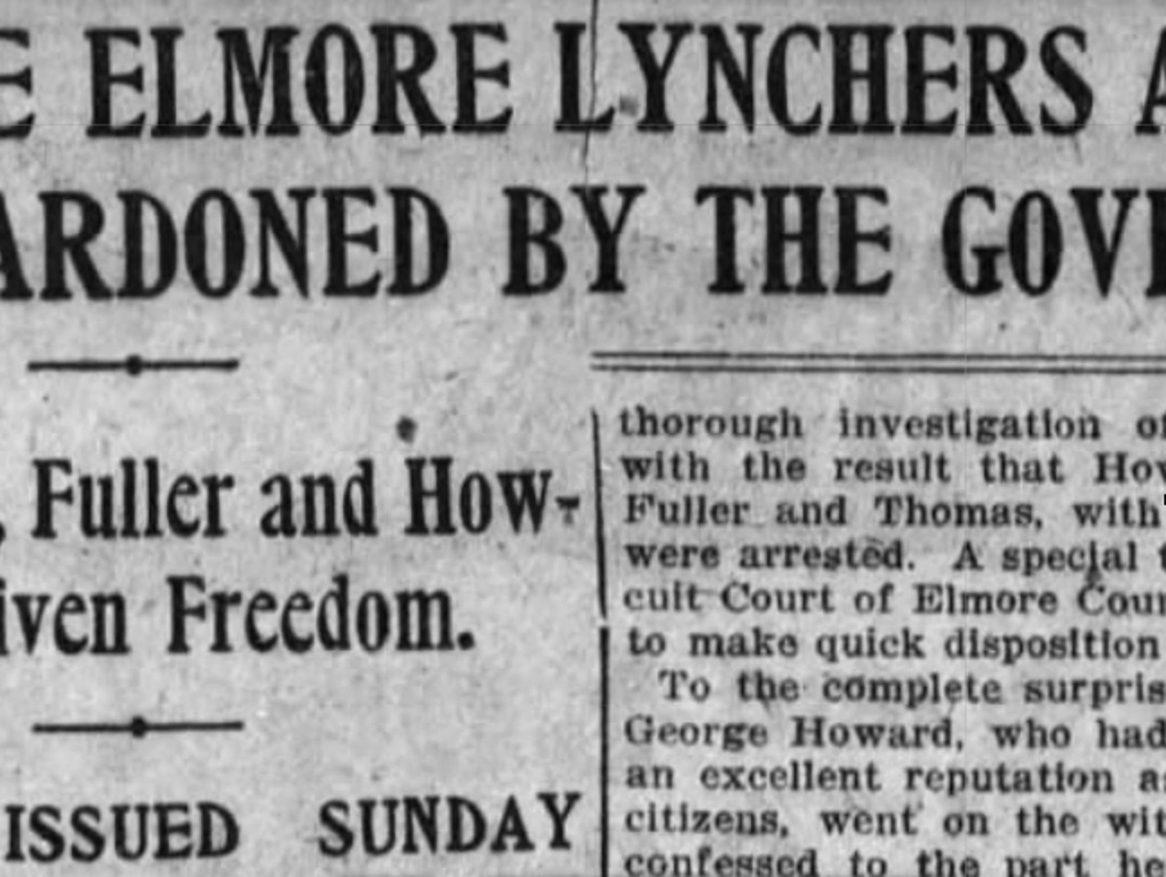 The Weekly Advertiser headline from June 13, 1902,