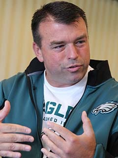 Tom Gamble was the Eagles' VP of player personnel for two years.