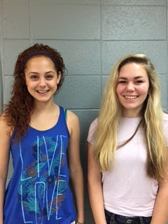 Laura Zornosa, left, and Kathryn Lahr are semifinalists  for National Merit Scholarships.