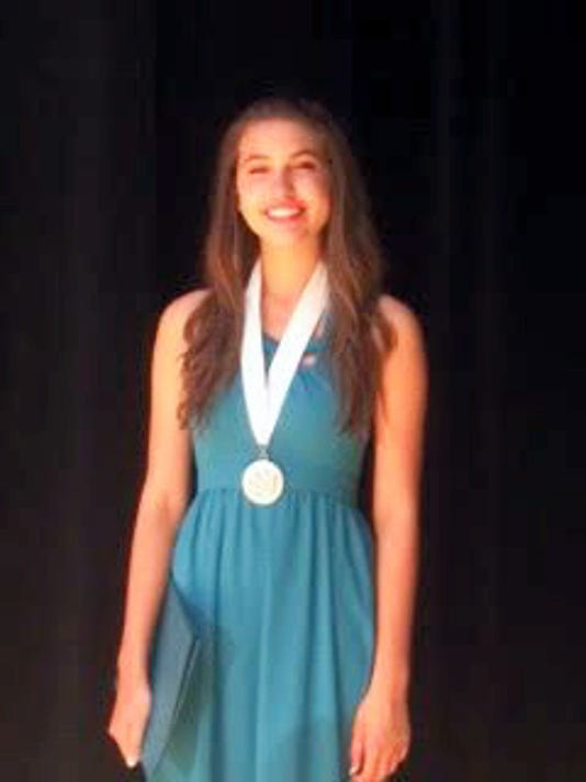 Rose Arbittier won the Distinguished Young Women contest at the statewide level on Saturday.