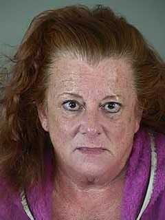 Teri Baker, 55, is being charged in Lane County with carrying 24 pounds of methamphetamine.