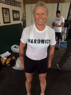 """Greenville retiree Cynthia Hardwick recently completed a 50-hour extreme fitness course that mimics the U.S. Navy SEAL """"Hell Week"""" for SEAL candidates."""