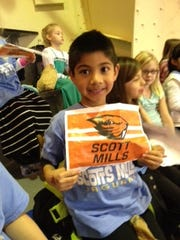 Scotts Mills students take in an Oregon State University women's basketball game at Gill Coliseum as part of Beavers Beyond the Classroom.