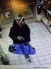 Police are asking the public to help identify this man, who is wanted for the attempted robbery of the Speedway gas station at 5795 Merriman Road on Christmas morning.