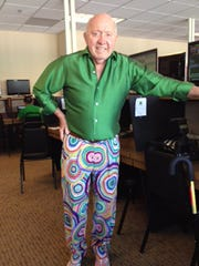 Bud Collins in the media room during the BNP Paribas