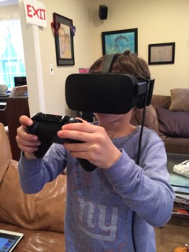 Oculus Rift VR is big hit in my house
