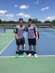 Seniors John Herr and Christian Roberts earned a top