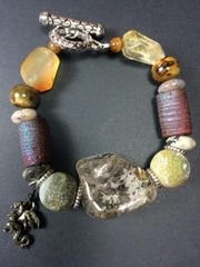 A one-of-a-kind bracelet made of natural stones and other pieces
