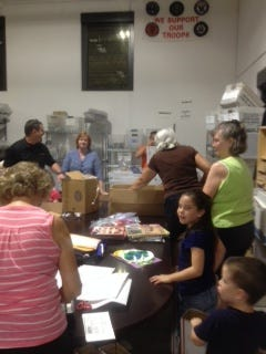 Packing boxes for those in the military