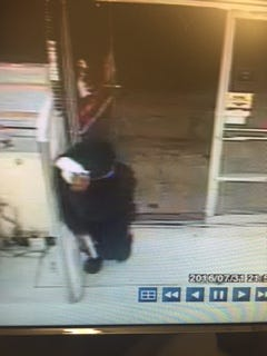 Image captured of armed robbery suspect at Family Dollar.