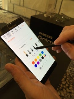 The S Pen has been improved for the Note 7.