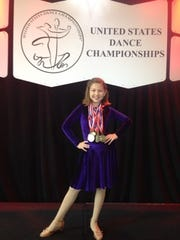 Claire Cullen won the title of   National Pre-Teen Champion in the U.S. Dance Championships competition.