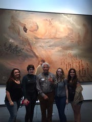 IRCHS students (from left) Nicole Raia, Sage Parker, their docent Jean Pierre, Tasha Reiner and Molly Phillips at the Dali Museum in St. Petersburg.