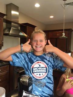 Hannah Bellard, 11, is a swimming star in Grosse Ile.