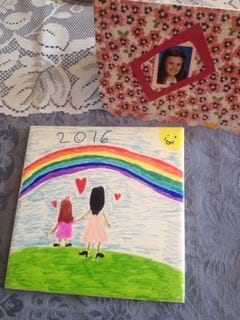 A hand-painted tile and a handmade card are the kinds of treasures you'll receive when your child is in elementary school.