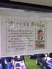 """Byron's Bridge"" was dedicated on Saturday on the 12th"